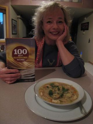 Sandy with book & soup #1